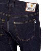 Cropped Pants High-Density Stretch Denim Indigo