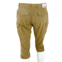 Cropped Pants with Hem Adjuster Belt Acid Beige