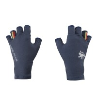 Cycling Gloves Belgium Flag Line Navy