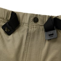 Stretch Half Pants with Buckle Belt Acid Beige