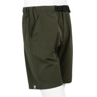 Stretch Half Pants with Buckle Belt Olive