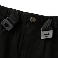 Stretch Half Pants with Buckle Belt Black