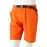 Stretch Half Pants with Buckle Belt Orange