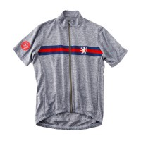 Short Sleeve Melange Cycling Jersey Navy/Red