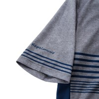 Half-Sleeve Cycling Jersey Border Heather Gray
