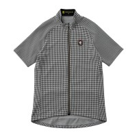Half-Sleeve Cycling Jersey Jacquard/Mini-Houndstooth
