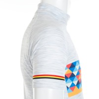 Half-Sleeve Jersey Melange Print Multi-Color