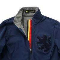 Women's Windshield Jacket with Chenille Patch Navy
