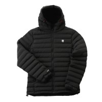 Double Woven Inner Cotton Hoody Jacket Black