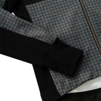 Racing Thermo Jacket Tweed Houndstooth Print Ice Blue