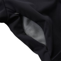 Windshield Jacket with Chenille Patch Black