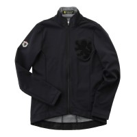 Women's Windshield Jacket with Chenille Patch Black
