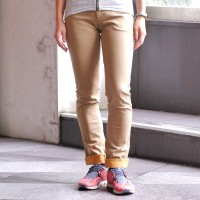 Skinny Pants 2-way Stretch Camel