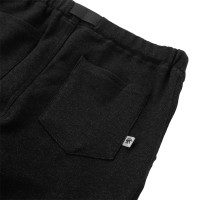 Moss Stitch Long Pants with Buckle Belt Heather Black