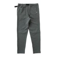 Moss Stitch Long Pants with Buckle Belt Heather Gray