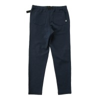 Moss Stitch Long Pants with Buckle Belt Indigo
