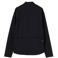 Long-Sleeve Trad Cycling Jersey Pinstripe Navy