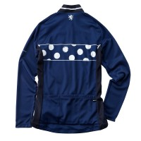 Women's Long-Sleeve Cycling Jersey French Dot Navy