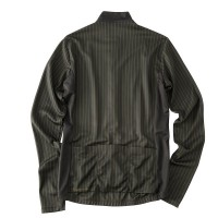 Long-Sleeve Cycling Jersey Double Stripe Olive