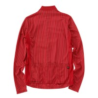 Long-Sleeve Cycling Jersey Double Stripe Red