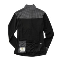 Women's Long-Sleeve Cycling Jersey Karo Noir
