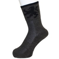 Winter Cycling Socks Gray/Black