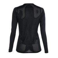Women's UV Protection Long-Sleeve Crew Neck Mesh Underwear Black