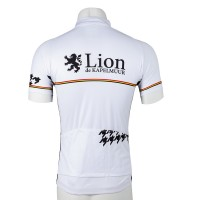 Short Sleeve Jersey One Point Houndstooth White