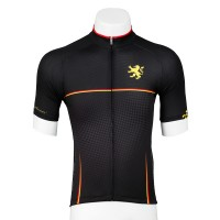 Legge-Fit Short Sleeve Cycling Jersey Houndstooth Black