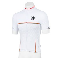 Legge-Fit Short Sleeve Cycling Jersey Houndstooth White