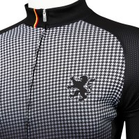Legge-Fit Half-Sleeve Cycling Jersey Houndstooth Black