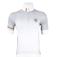 Legge-Fit Half-Sleeve Cycling Jersey Houndstooth White