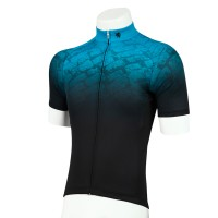 Legge-Fit Half-Sleeve Cycling Jersey Pave Turquoise