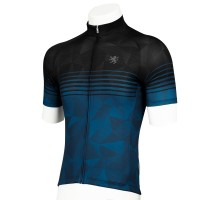 Legge-Fit Half-Sleeve Cycling Jersey Speedline Black x Navy