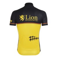 Half-Sleeve Jersey One Point Houndstooth Black x Yellow