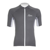 Half-Sleeve Cycling Jersey Gazelle  Gray