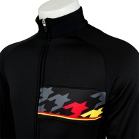 Racing Thermo Jacket Big Houndstooth Black