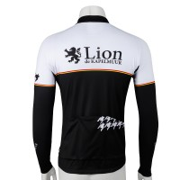 Long-Sleeve Cycling Jersey One Point Houndstooth Monotone