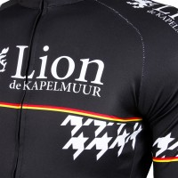 Long-Sleeve Cycling Jersey One Point Houndstooth Black