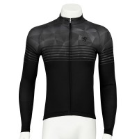 Legge-Fit Long-Sleeve Cycling Jersey Speedline Gray x Black