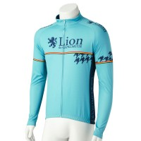 Long-Sleeve Cycling Jersey One Point Houndstooth Cheleste