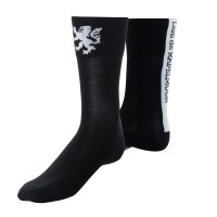 Racing Long Socks Black x White