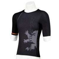 Half-Sleeve Tri Jersey Houndstooth Coal Black