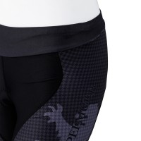 Women's Tri Shorts Houndstooth Coal Black