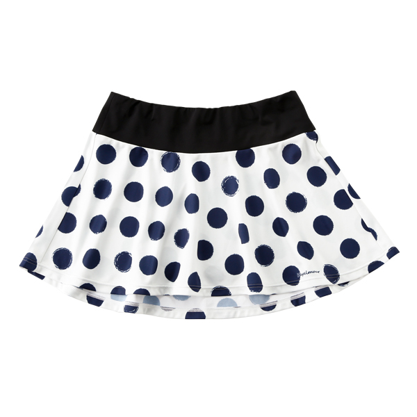 Flare Skirt French Dot Ivory