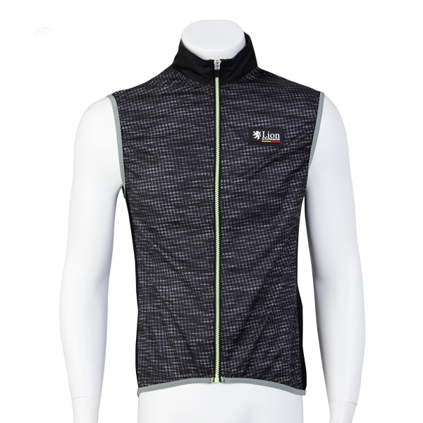 Wind Vest Houndstooth-Friction Black