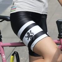 UVカットサイクルショーツ ブラック×ホワイト